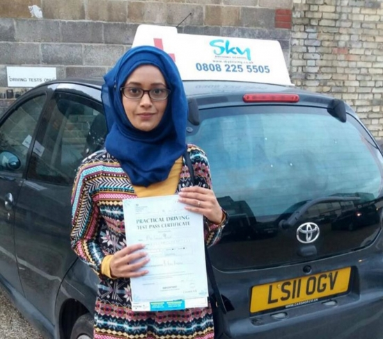 Thank you Mili so much for being a great instructor full of patience repeatedly encouraging me and giving me the confidence to drive I am over the moon to be able to drive Thank you so much<br />