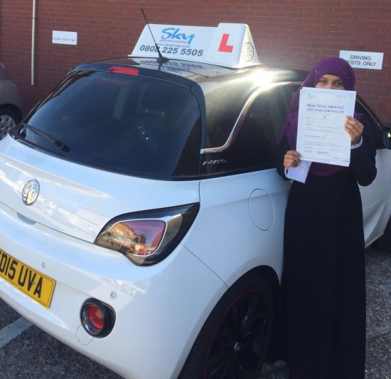 Thank you so much sister Shabnam for being a great inspirational instructor and teaching me how to drive safely You are the only person who was able to calm my nerves down You helped me achieve my goal and gain confidence when driving I will definitely recommend you to my friends and family Take care and have a nice day<br /> <br /> Sayda Seven Kings