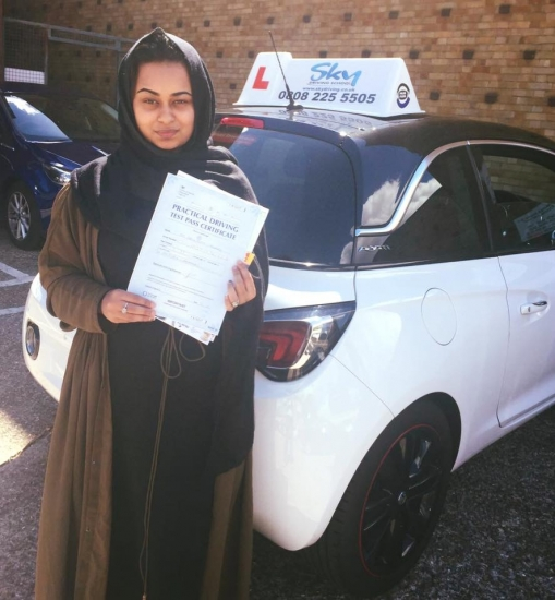 Shabnam <br /> <br /> Thank you so much for giving me a great experience Iacute;ve always had the encouragement and support from u that I didnacute;t receive from my previous instructor and I managed to pass first time with only 10 lessons You were a great instructor and I always felt comfortable with you You always gave me positive feedback after each lesson which led me to push myself harder to make
