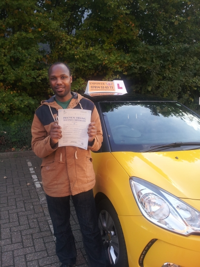 Amazing driving instructor MUCH better than a previous instructor from a different Driving School very helpful patient and helped me pass first time<br />