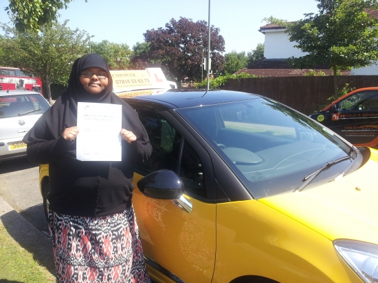 I passed my driving test with Kal yesterday He is a fantastic instructor and also very patient I would recommend him to anyone Thank you Kal