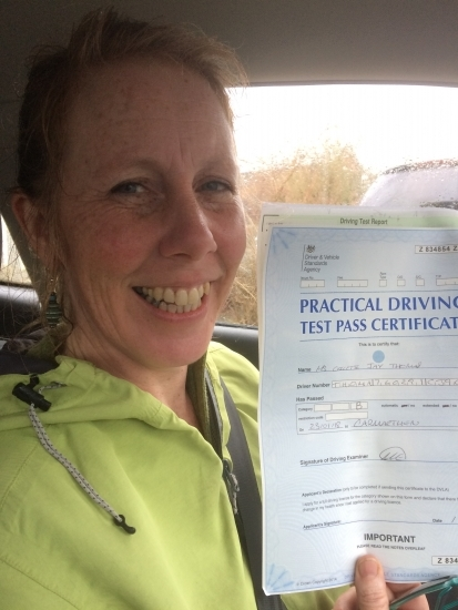 Well who said you can't teach an old dog new tricks. Never thought I'd be at the wheel of a car, let alone pass my test. But thanks to Angela I've found a new confidence and very useful skill indeed <br />