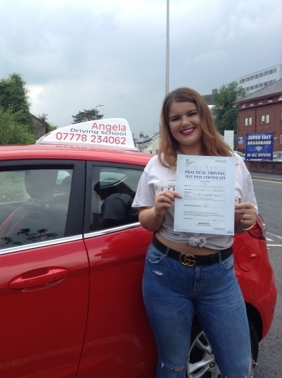 Great service. Angela was able to work around my shifts. I was incredibly nervous and anxious about driving but thanks to Angela my confidence grew and then I loved the driving. I passed at the first attempt and a big part was due to Angela