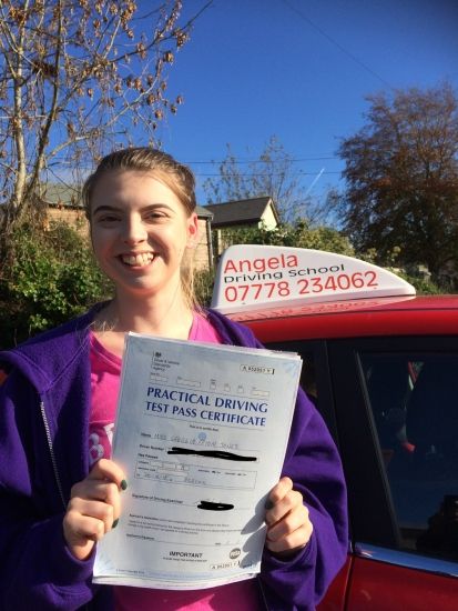 Angela is an amazing driving instructor! I passed first time with her help. She's very patient with her students and will help you through anything you show struggle in. I 110% recommend her. I couldn't thank her enough for what she has helped me achieve.