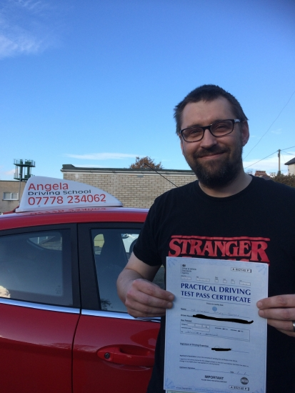 Past firts attempt due to excellent tutelage by Angela. Flexible and reliable would recommend to anyone wanting the best possible training to learn to drive and pass �