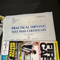 Congratulations for passing your test at Bolton.  Well done Afrodite.