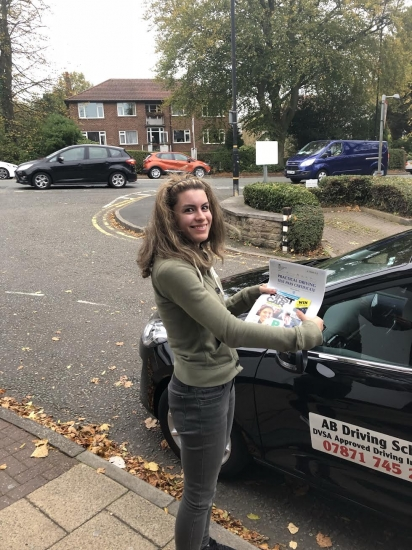 Well done to Anna Green for passing her practical test in Sale on 23/10/18