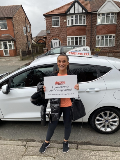 Well done to Eve for passing her practical test at Sale on 11/3/20.  Exceptional first time pass with no driver faults.