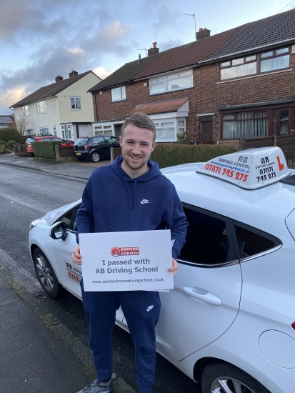 Congratulations a first time pass with zero faults at Bolton on 9/1/19.