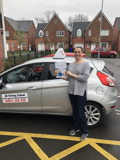 Congratulations to Karla Spencer for passing her test in Sale on Friday 13th of all days