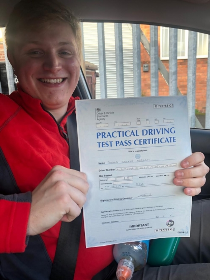 Congratulations to Lewis for passing first time at Sale on 16/12/19.
