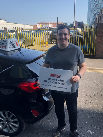 Congratulations to Liam for passing his practical test first time at Cheetham Hill on the 25th July 2019.  Well done!