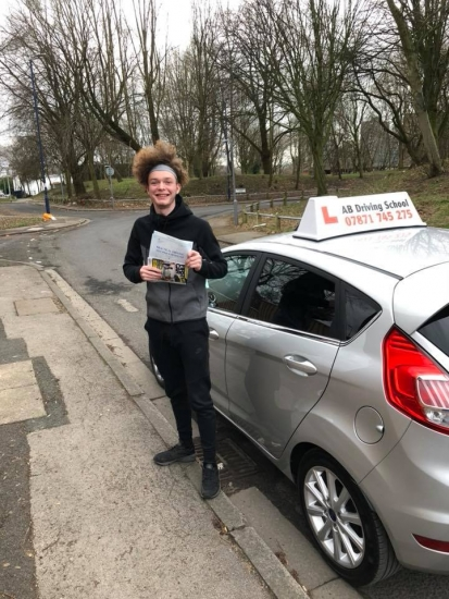 Congratulations to Louis Doxey for passing his practical test at Cheetham Hill, Well done!