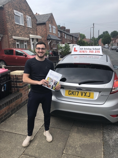 Well done for passing at Sale today with only 2 driver faults.