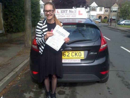Cindy passed 2nd time with few minor errors