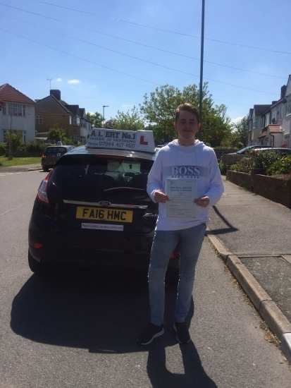 Harry passed first time with zero minors