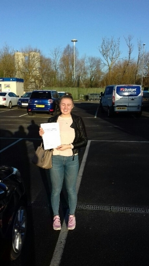 Sixth test of 2018 and Gabby passed on her first attempt with Martin´s Driving School.