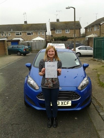 Well done Jenna passing on first attempt with only one minor driving fault
