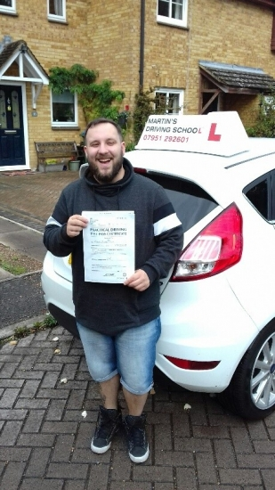 A brilliant first time pass for Peter who passed with a clean sheet zero faults on his first attempt!