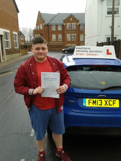 Congratulations to Craig who passed on 14215 with only two faults at Aylesbury test centre on his first attempt Enjoy driving your Fiesta