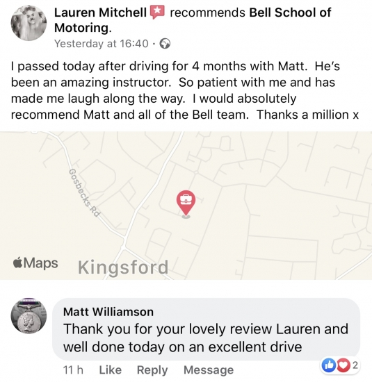 ANOTHER GREAT REVIEW for instructor MATT