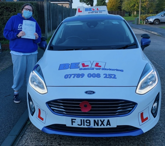Fantastic FIRST TIME PASS for instructor Natasha with only TWO faults