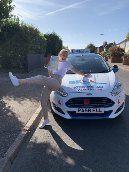 Hannah PASSED with only THREE faults..... Fantastic POSE Hannah