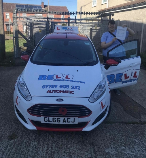 Another FIRST TIME PASS for instructor Steve with only FIVE faults in our AUTOMATIC car