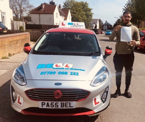 Another FIRST TIME PASS for instructor Steve with only TWO faults