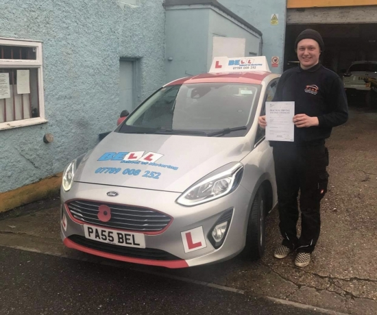 Another FIRST TIME PASS for instructor Steve with only FOUR faults