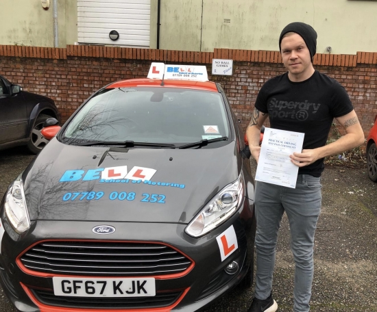 FANTASTIC FIRST TIME PASS for Instructor Pete with only FOUR faults...