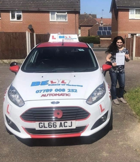 GREAT FIRST TIME PASS for instructor Steve in our AUTOMATIC car with only TWO faults
