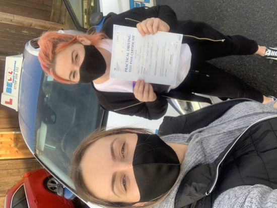 Fantastic FIRST TIME PASS for instructor Natasha with only ONE fault