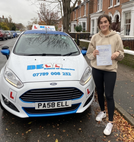 Amazing FIRST TIME PASS for instructor Michelle with only ONE fault