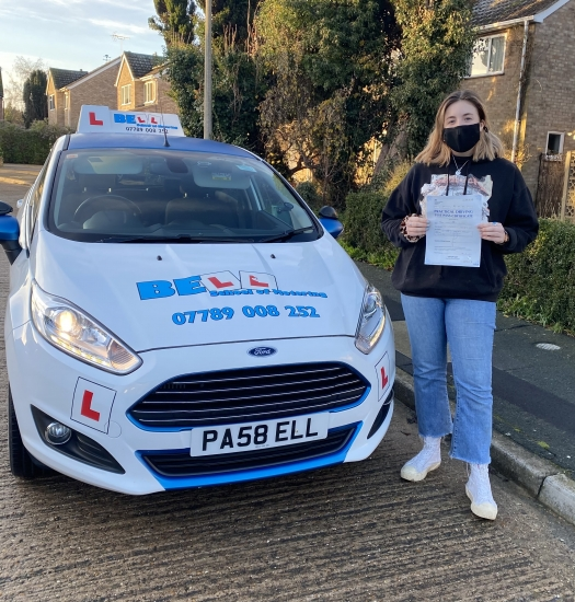 Fantastic FIRST TIME pass for instructor Michelle with only TWO faults