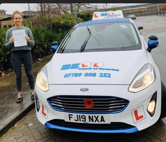 AMAZING FIRST TIME PASS for instructor Natasha with only ONE fault