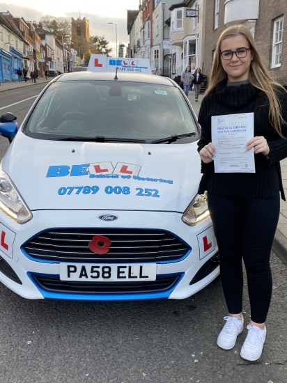 FIRST TEST PASS for 2020 with only TWO faults for instructor Michelle
