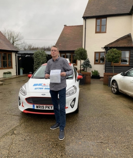 Another FIRST TIME PASS for instructor Matt with only TWO faukts