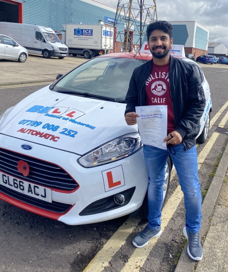 FANTASTIC FIRST TIME PASS for Instructor Steve in our AUTOMATIC car with only FOUR faults....