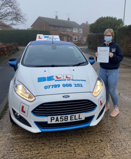 Another FIRST TIME PASS for instructor Michelle with only THREE faults