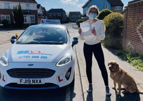 Another Fantastic FIRST TIME PASS for instructor Natasha with only<br /> ONE fault....