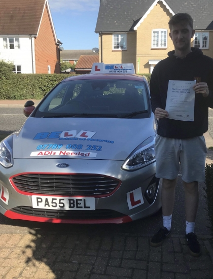 PASSED FIRST TIME with STEVE with only THREE faults