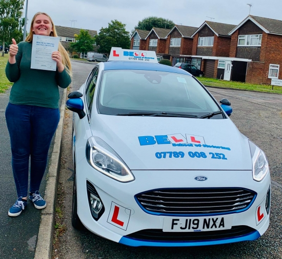 FIRST TIME PASS for INSTRUCTOR NATASHA with only THREE faults