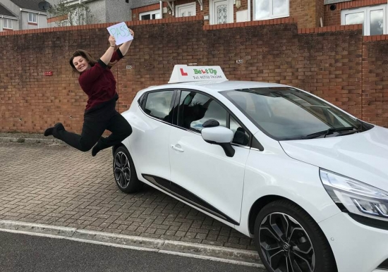 CONGRATULATIONS Gemma on Passing your Part 3 today.  So very proud to have you join the Belt Up Driving School Team! :)