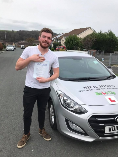 Congratulations to Nick Jones student Kyle for passing his driving test this morning on his first attempt !!!!! Fantastic drive Kyle keep safe out there 😎😎