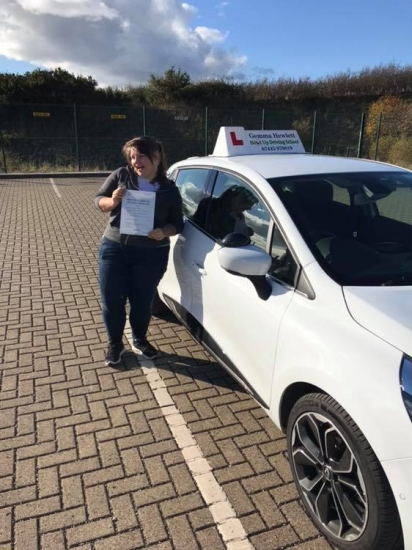 Gemma is so proud of Sasha Reeve for passing her driving test today first time 🎉 you've come such a long way from the first lesson we met it's amazing !! Well done � stay safe and enjoy your car shopping 🚘