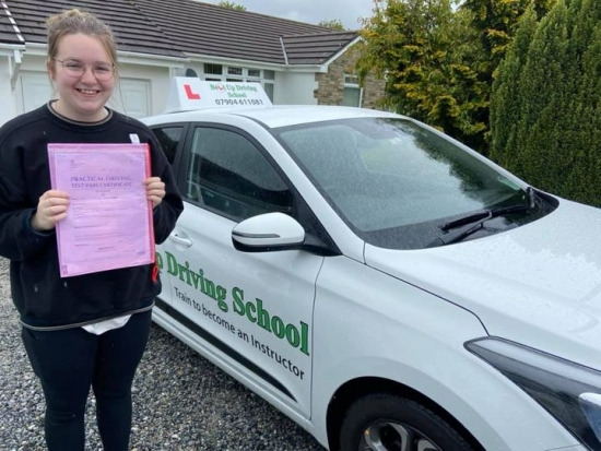 My beautiful daughter who, despite the lockdowns and the lack of tests, took and passed her test 1st time.  I´m very proud.  Stay safe sweetheart. x