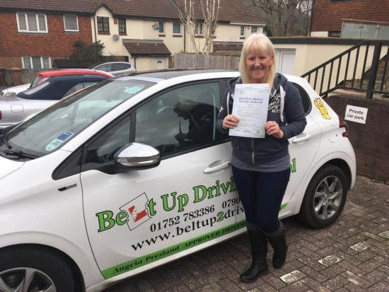 I was having problems passing with my other driving instructor so I went with Belt Up Driving School and my new instructor Angie Presland was absolutely brilliant At first I thought what have I done But Iacute;m the sort of person who doesnacute;t like change I was also a very nervous driver but she brought everything out of me encouraged me to do things I was too nervous to do I also fou