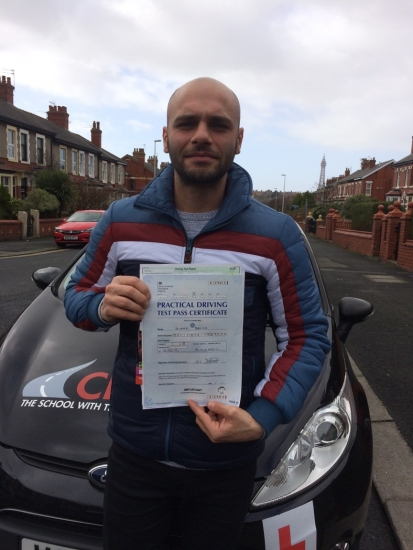 Thank you Fred for helping me to pass my UK driving test.  I was really nervous about learning to drive in the UK as I had picked up some bad habits whilst driving abroad and was initially worried that communicating with an instructor would be a problem. However, you have been fantastic (and very patient) instructor and I will 100% be recommending you to family and friends.  Passed 13th March 2019
