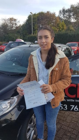 A really big thank you Fred for helping me to pass my driving test 1st time.  You gave me all the support and confidence I needed to drive.  I would highly recommend you to any of my friends.  Passed 14th October 2020.